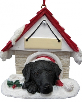 Labrador retriever dog house kerst ornament kerstdecoratie for Dog house for labrador retriever